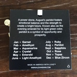 Alex and Ani Jewelry - New Alex and Ani!! August birthstone!!